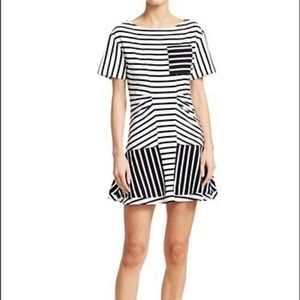 ⭐️ DEREK LAM Short-Sleeve Striped T-Shirt Dress ⭐️